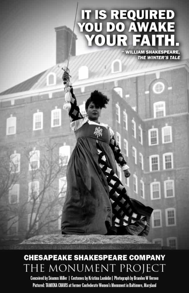 Tamieka Chavis at former Confederate Women's Monument in Baltimore, Maryland.