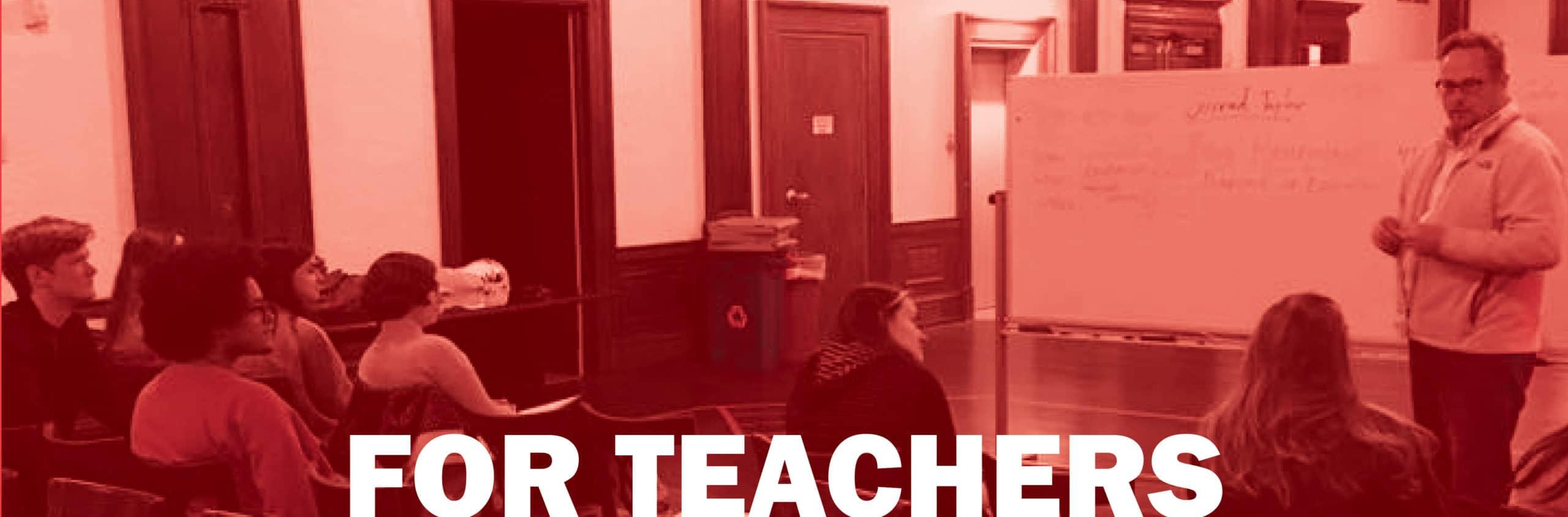 FOR TEACHERS WEB HEADER